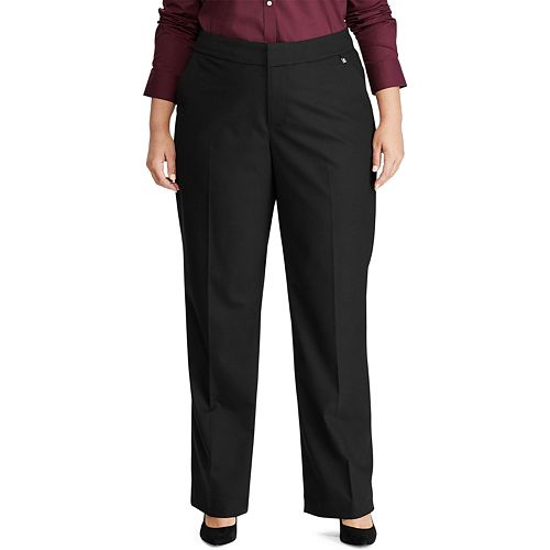 Plus Size Chaps Weekday Ready Straight Fit Pants