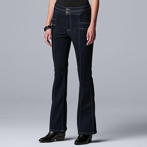 Women's Simply Vera Vera Wang Seamed Wide Leg Jean
