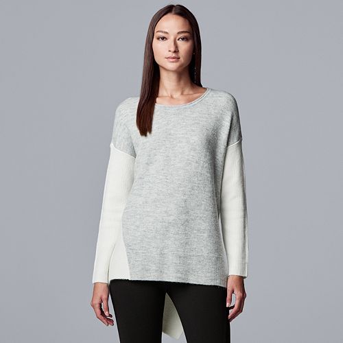 Women's Simply Vera Vera Wang Asymmetrical Rib Sweater