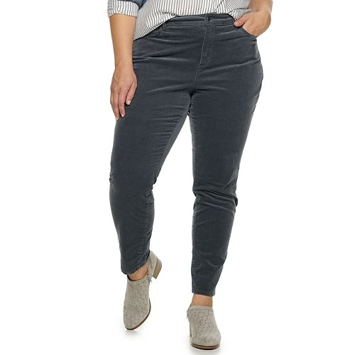 Plus Size SONOMA Goods for Life™ High Rise Skinny Pants