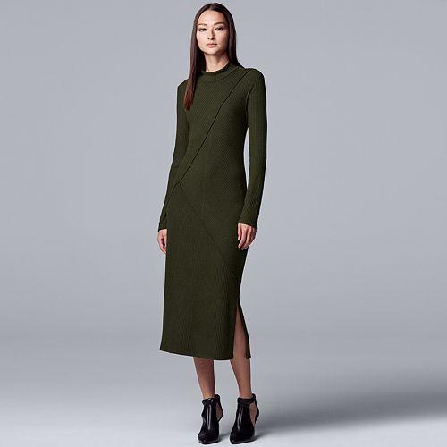 Women's Simply Vera Vera Wang Seamed Cozy Dress