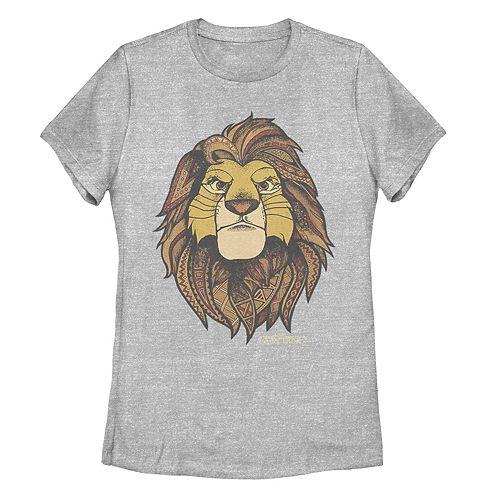 Juniors' Lion King Geometric Grown Up Simba Tee