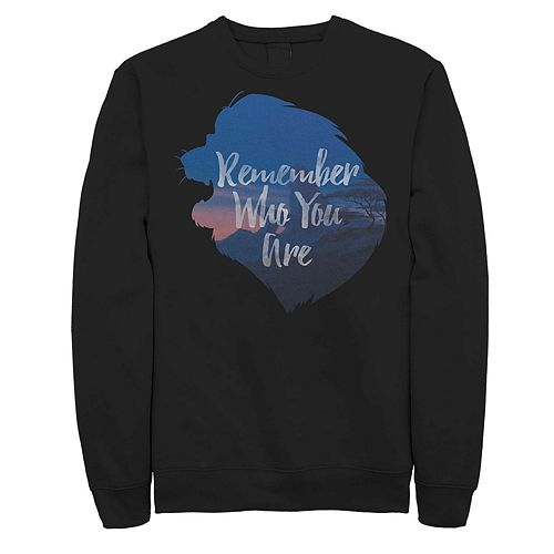 Juniors Lion King Remember Who You Are Fleece Top
