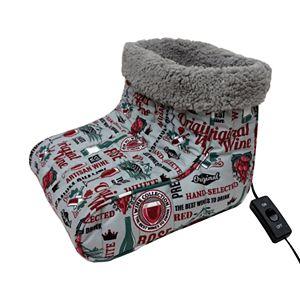 Micro Flannel Printed Heated Footwarmer