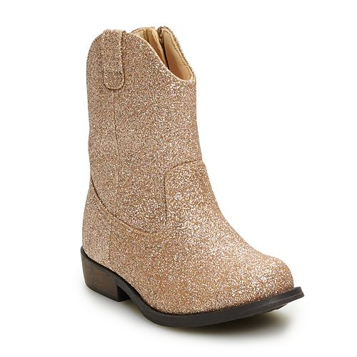 Jumping Beans Butter Brickle Toddler Girls' Western Boots