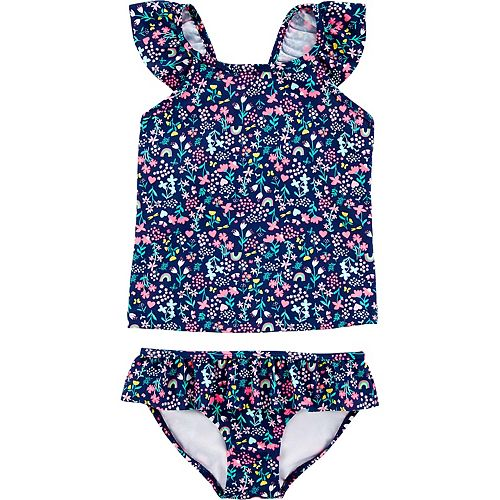 Girls 4-14 Carter's Floral Tankini and Bottoms Swimsuit Set