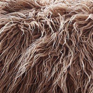 De Moocci Mongolian Faux Lamb Fur Throw Blanket