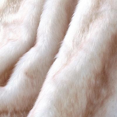 De Moocci Reversible Tip Dyed Faux Fur Throw
