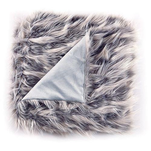 De Moocci Faux Fur Feathers Throw Blanket