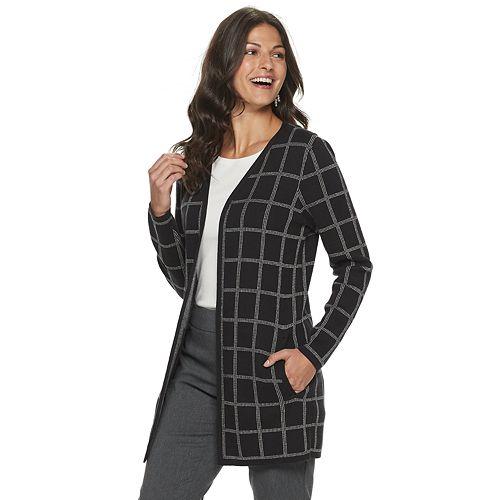 Women's Croft & Barrow® Open-Front Long Cardigan
