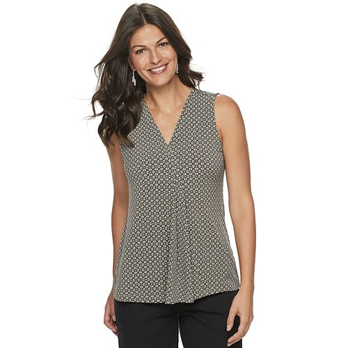 Women's Croft & Barrow® Release-Pleat Tank