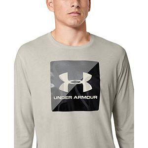 Mens Under Armour Boxed Half Logo Long Sleeve Graphic Tee