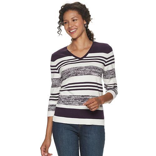 Women's Croft & Barrow® V-Neck Sweater