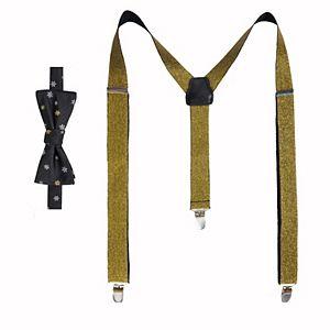 Men's Apt. 9 Pre-Tied Bow Tie & Suspenders Set