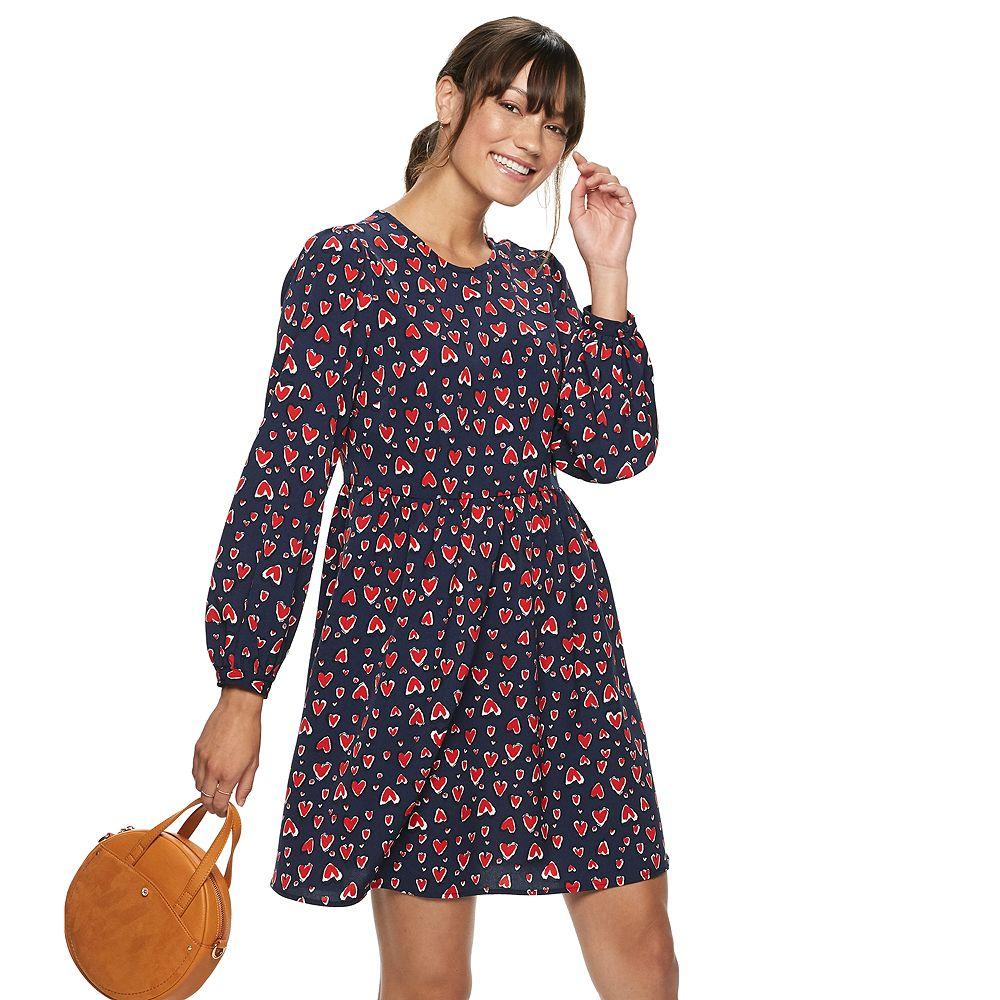 Women's POPSUGAR Long Sleeve Mini Dress