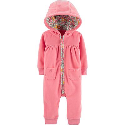 Baby Girl Carter's Hooded Bear Jumpsuit