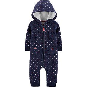 Baby Girl Carter's Hooded Heart Jumpsuit