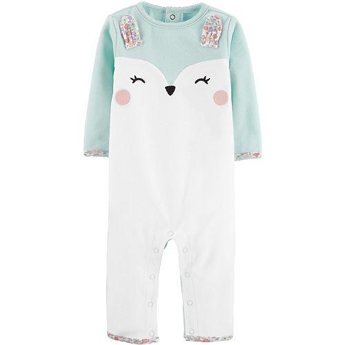 Baby Girl Carter's Bunny Fleece Jumpsuit