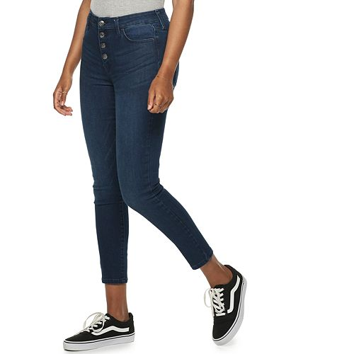 Women's POPSUGAR Raw-Edge High-Waisted Skinny Ankle Jeans