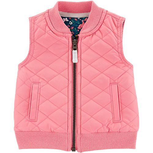 Baby Girl Carter's Zip-Up Poplin Vest
