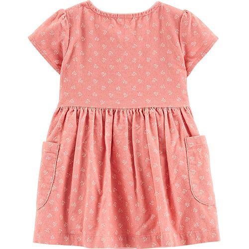 Baby Girl Carter's Floral Corduroy Dress