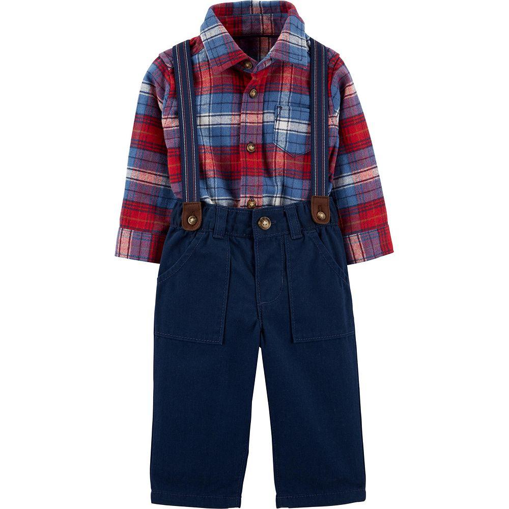 Baby Boy Carter's 3-Piece Flannel Bodysuit & Corduroy Pants Set
