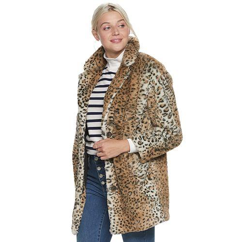 Women's POPSUGAR Faux Fur Coat