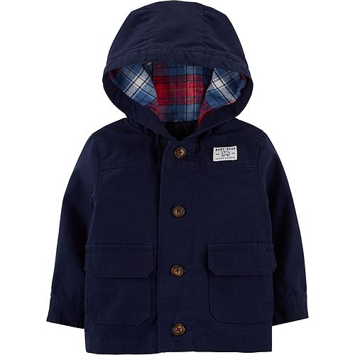 Baby Boy Carter's Button-Front Hooded Jacket