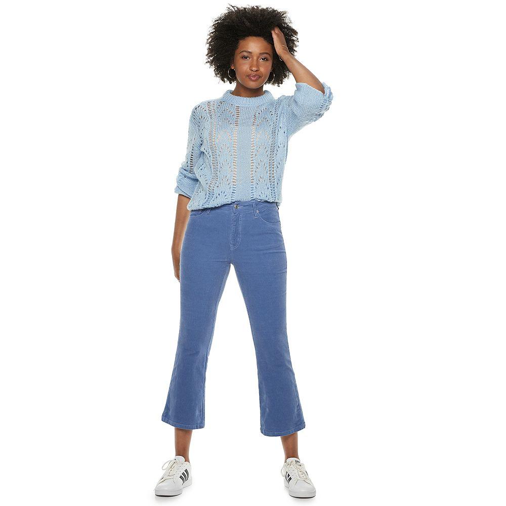 Women's POPSUGAR High-Waisted Kick Flare Corduroy Pants