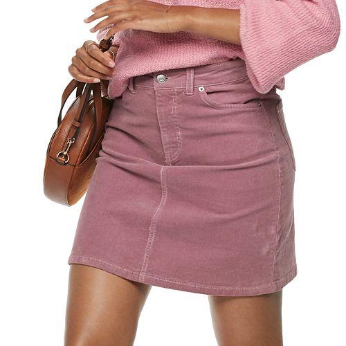 Women's POPSUGAR Corduroy Skirt