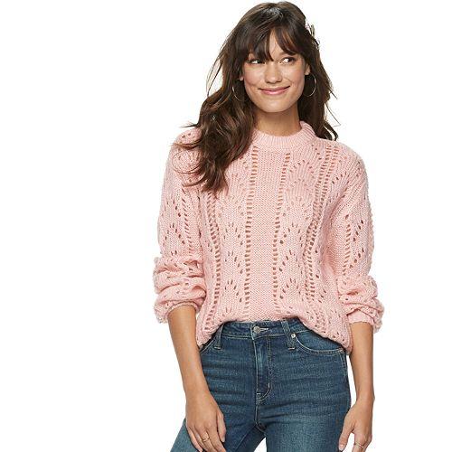 Women's POPSUGAR Fluffy Pointelle Sweater