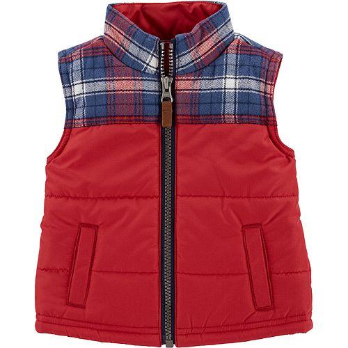 Baby Boy Carter's Plaid Zip-Up Vest