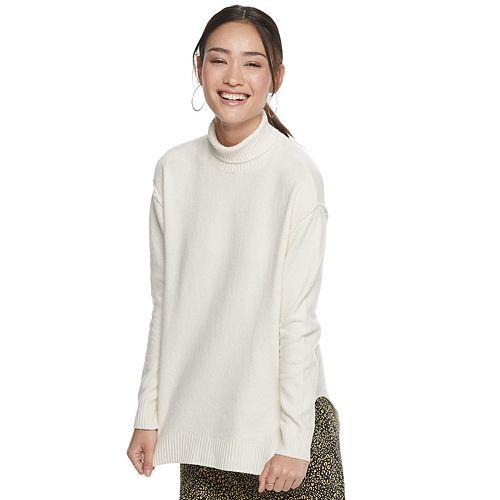 Women's POPSUGAR T-Neck Side Slit Tunic