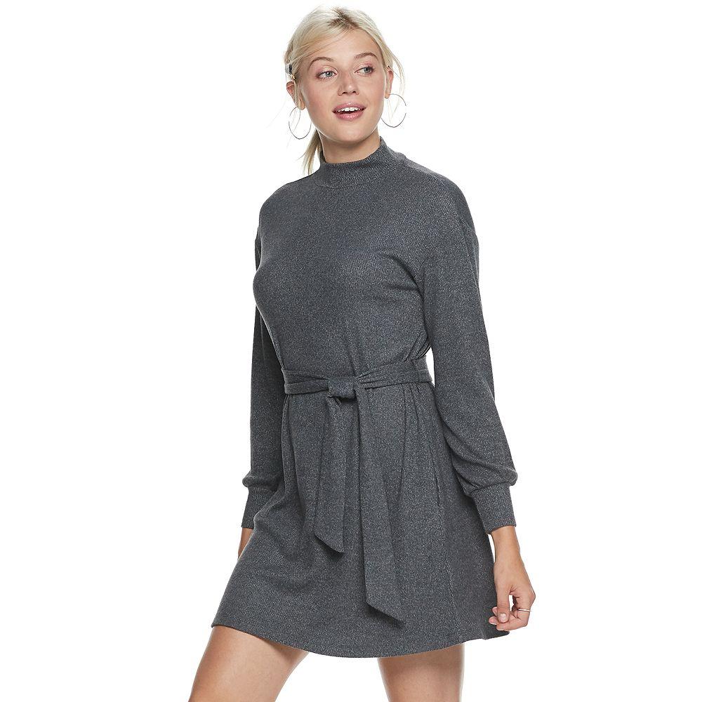Women's POPSUGAR Belted Cozy Dress