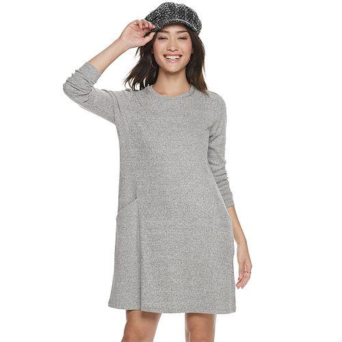 Women's POPSUGAR Brushed Aline Pocket Shift Dress