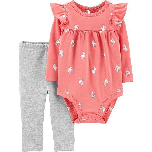 Baby Girl Carter's 2-Piece Unicorn Bodysuit Pant Set
