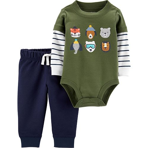 Baby Boy Carter's 2-Piece Animal Bodysuit Pant Set