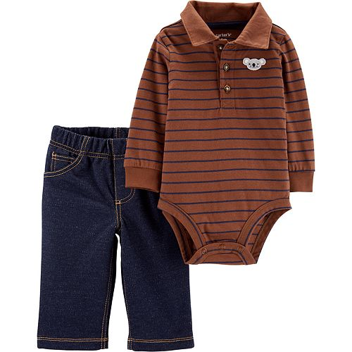 Baby Boy Carter's 2-Piece Stripe Bodysuit Pants Set