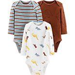Baby Boy Little Planet Organic by Carter's 3-Pack Original Bodysuits