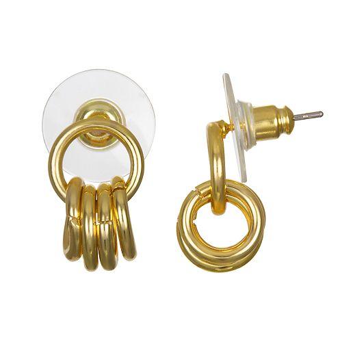 LC Lauren Conrad Hoop Drop Nickel Free Earrings