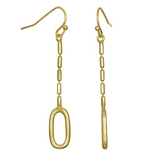 LC Lauren Conrad Oval Nickel Free Linear Drop Earrings