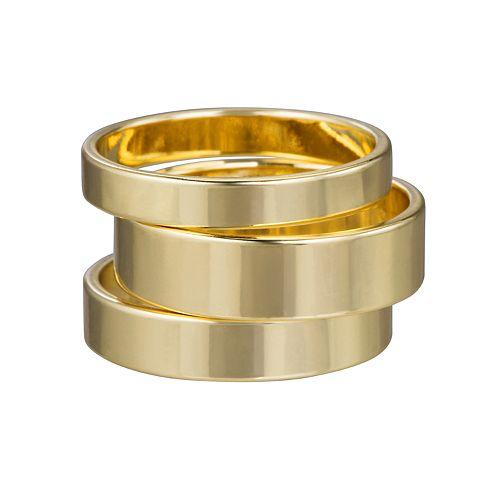 LC Lauren Conrad Gold Tone Ring Set