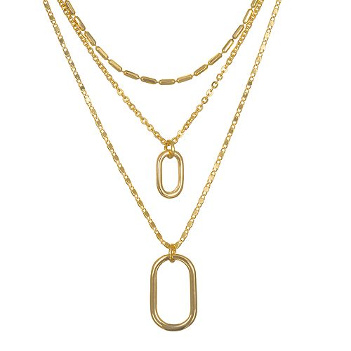 LC Lauren Conrad Oval Layered Necklace