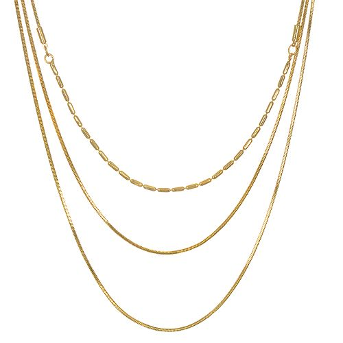 LC Lauren Conrad Gold Tone Layered Necklace