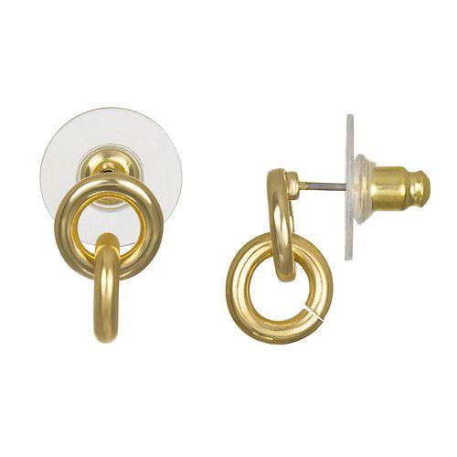 LC Lauren Conrad Interlocking Hoop Nickel Free Earrings