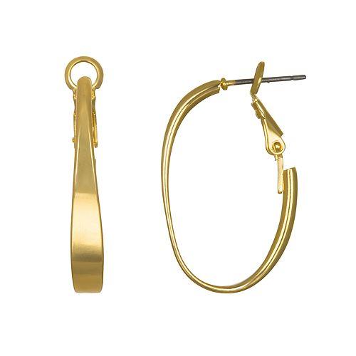 LC Lauren Conrad Oval Hoop Nickel Free Earrings