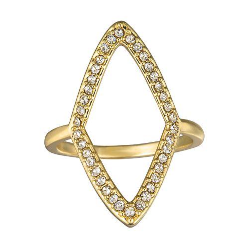 LC Lauren Conrad Geometric Pave Ring