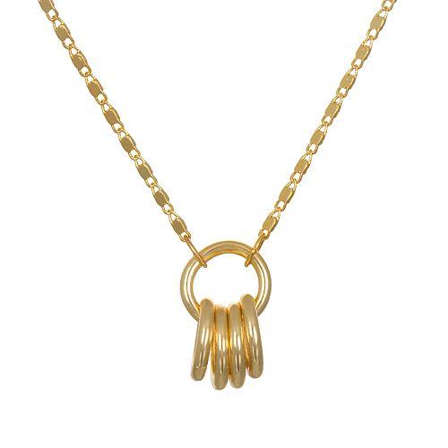 LC Lauren Conrad Interlocking Circle Pendant Necklace