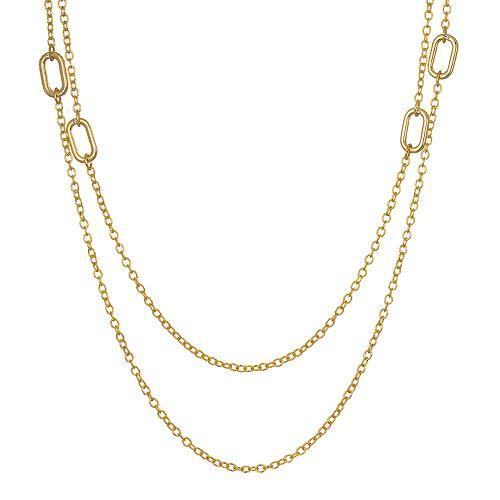 LC Lauren Conrad Chain Double Strand Necklace