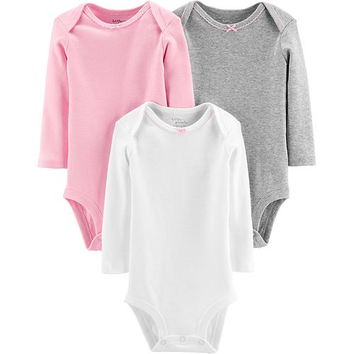Baby Girl Carter's 3-Pack Organic Bodysuits